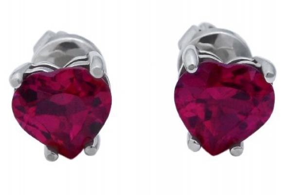 Серьги-сердечки Amova Jewelry коДню всех влюбленных - Фото №2