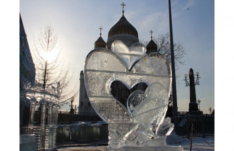 Лед и песок на День Святого Валентина
