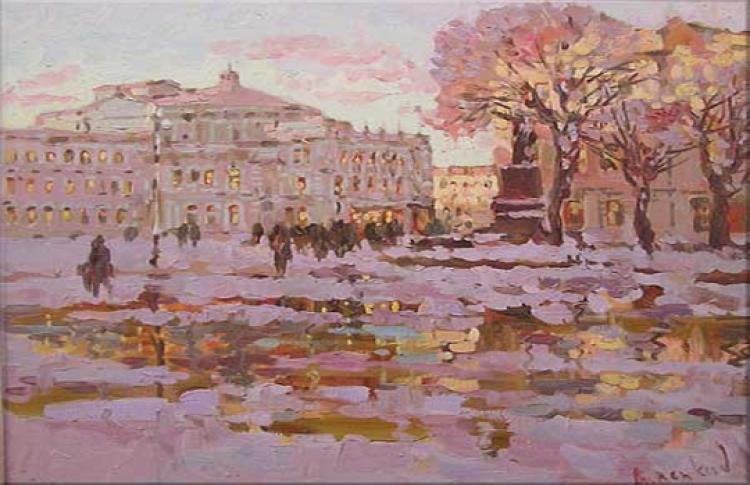 Анатолий Анненков «Города на воде — Петербург, Венеция»