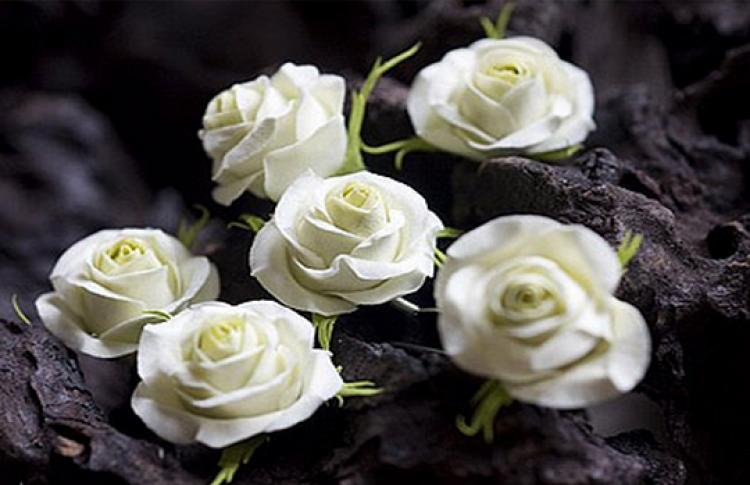 Как слепить живой цветок