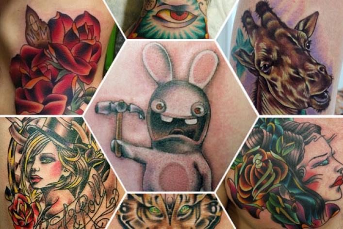 7модных татуировщиков