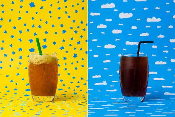 Яркие летние напитки