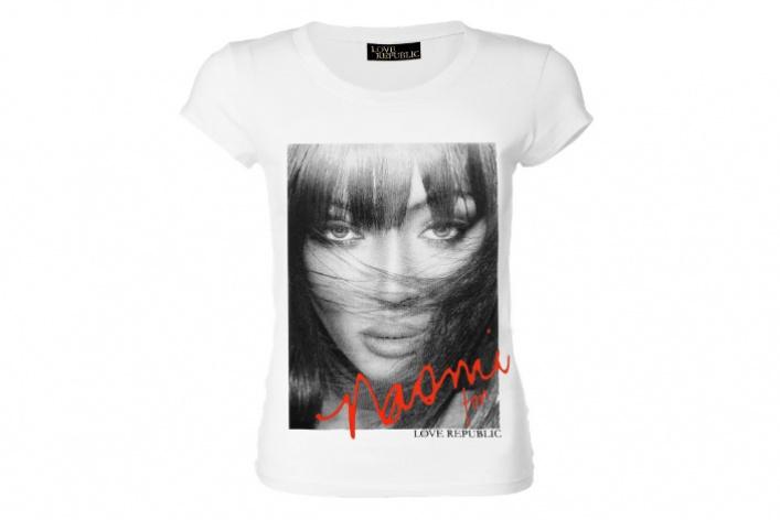 Наоми Кэмпбелл запустила сLove Republic совместную серию футболок