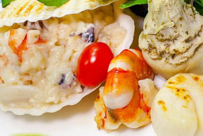 Меню с морепродуктами