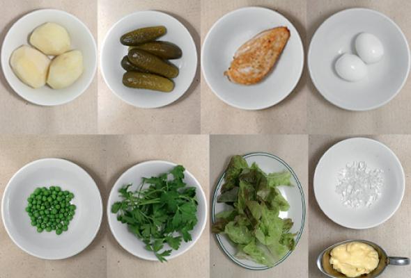 Рецепт: Традиционный русский салат - Фото №1