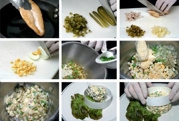 Рецепт: Традиционный русский салат - Фото №2