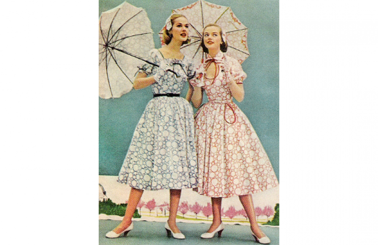 Мировая мода 1950-х