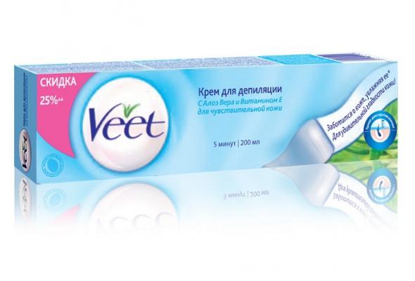 Veet выпустил депиляционные кремы вновом объеме - Фото №1