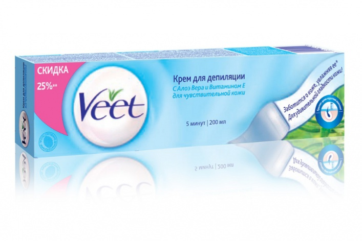 Veet выпустил депиляционные кремы вновом объеме