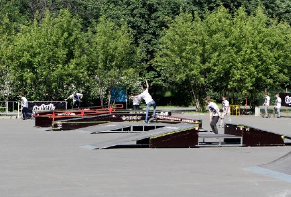 Скейтпарк в парке Сокольники - Фото №1