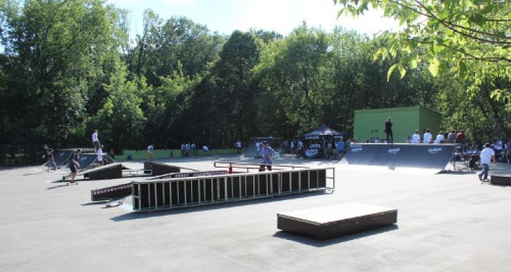 Скейтпарк в парке Сокольники