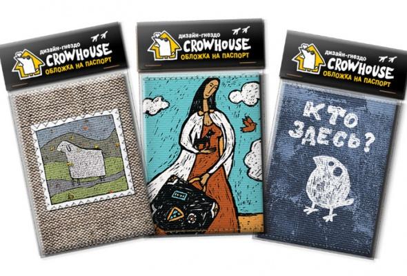 Обложки напаспорт изнатурального холста отдизайн-гнезда Crowhouse - Фото №0