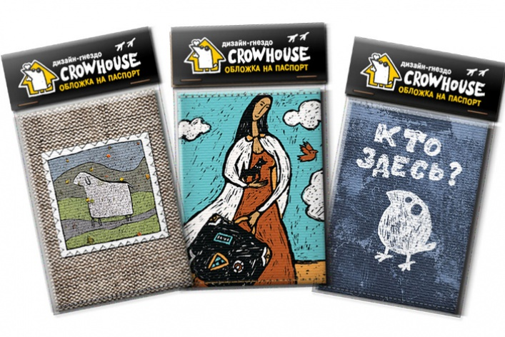 Обложки напаспорт изнатурального холста отдизайн-гнезда Crowhouse