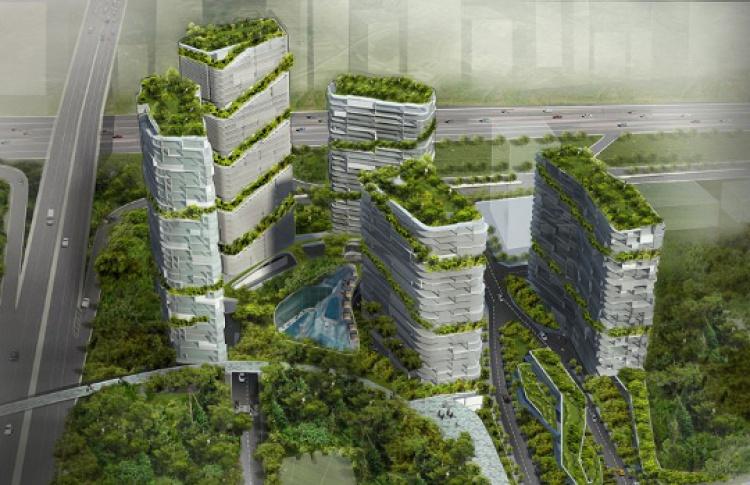 Вертикальный дизайн мегаполиса