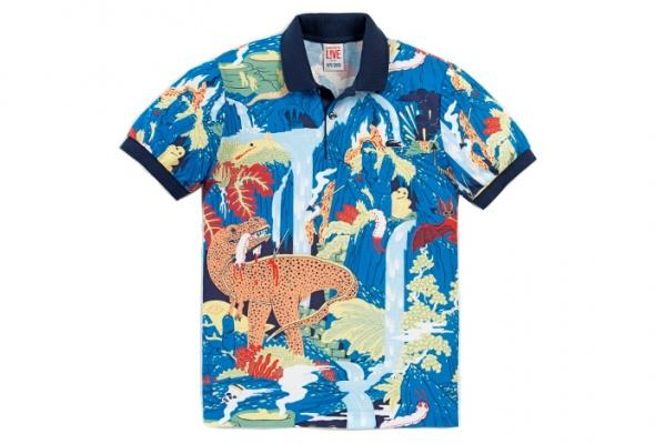 Поло Lacoste L!VEукрасили динозаврами ифламинго - Фото №0