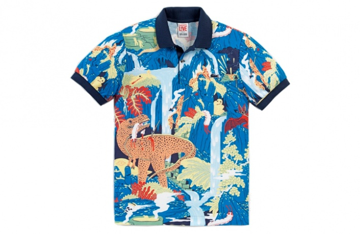Поло Lacoste L!VEукрасили динозаврами ифламинго