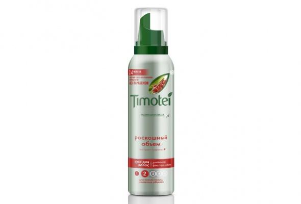 Timotei выпустил натуральные муссы для укладки волос - Фото №0