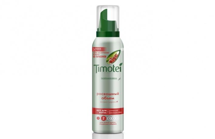 Timotei выпустил натуральные муссы для укладки волос