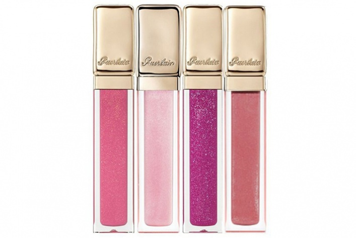 Розовые икрасные помады восенней коллекции макияжа Guerlain