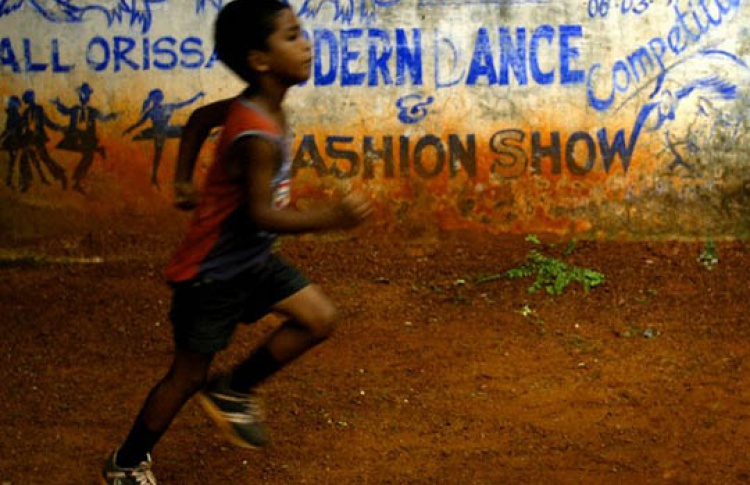 Юный марафонец