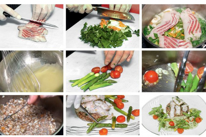 Рецепт: Блюдо изстерляди сбелым столовым вином