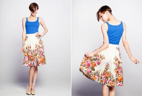 Даша Померанцева сшила коллекцию платьев изпавлово-посадских шерстяных платков - Фото №1