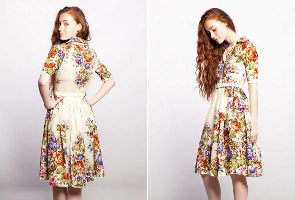 Даша Померанцева сшила коллекцию платьев изпавлово-посадских шерстяных платков - Фото №4