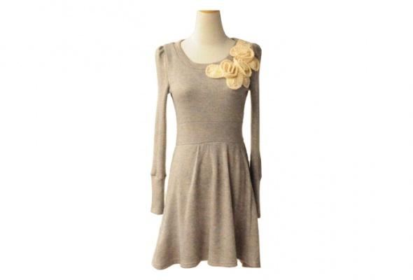 30теплых трикотажных платьев - Фото №3