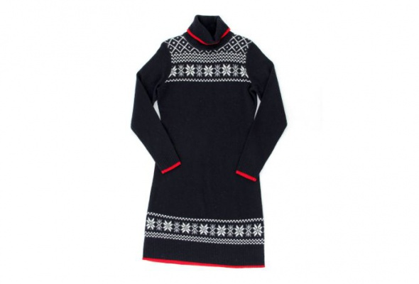 30теплых трикотажных платьев - Фото №5