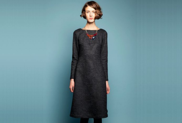 30теплых трикотажных платьев - Фото №12