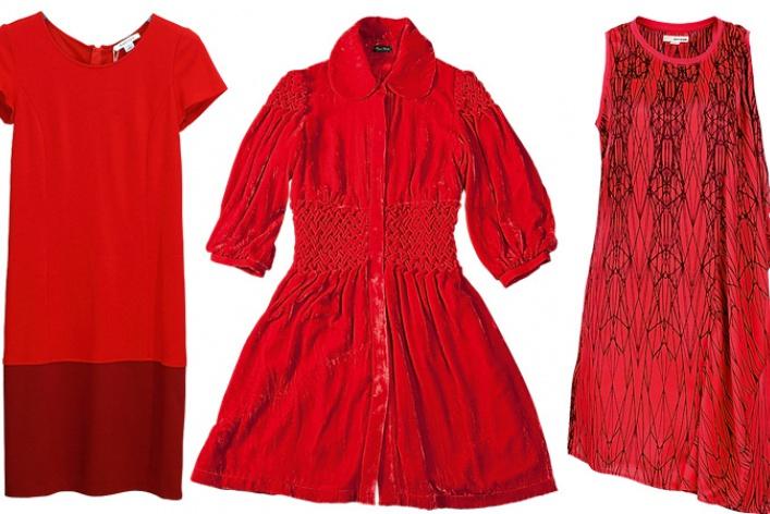 Где найти: Красное платье