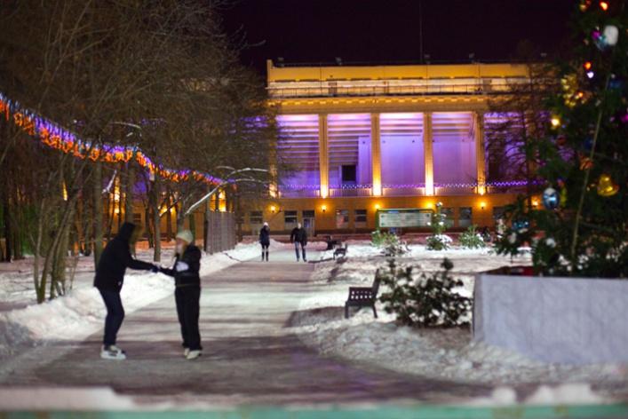 Зимний парк в «Лужниках»