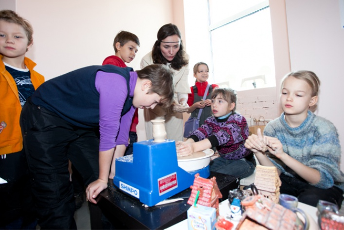 Детский мастер-класс наоткрытии пространства «Ткачей»