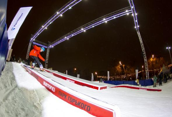 ВПарке Горького открылась сноубордическая площадка для начинающих - Фото №2