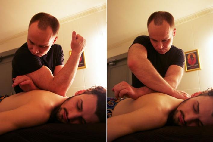 Вбарбершопе Mr. Right делают массаж свиски