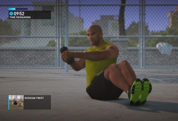 Фитнес скомпьютерным тренером изпрограммы Nike + Kinect Training - Фото №1