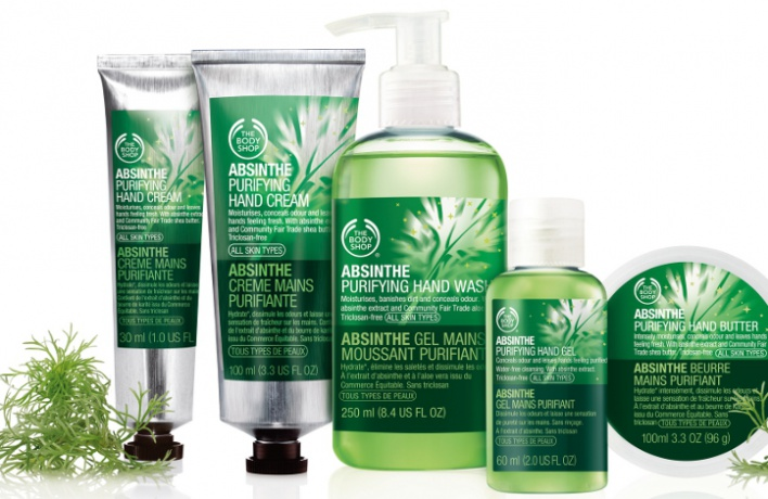 The Body Shop выпустил абсентовые кремы для рук