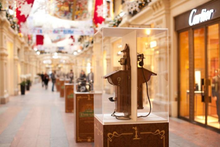 Выставка старинных телефонов