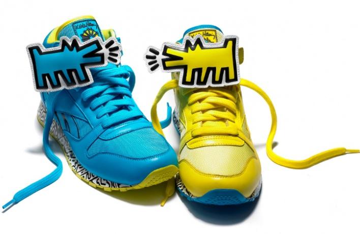 Reebok представил коллекцию кроссовок спринтами Кита Харинга