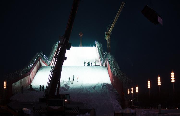 НаВВЦ открывается искусственный горнолыжный склон