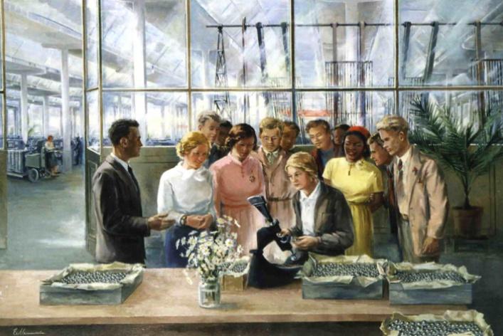 Рабочие и колхозницы