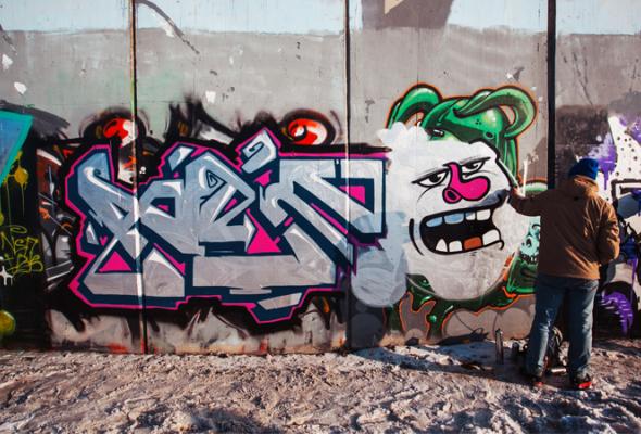 Встреча молодых граффитистов - Фото №7