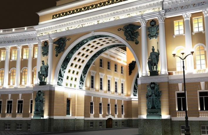 Выбран окончательный вариант освещения арки Генштаба