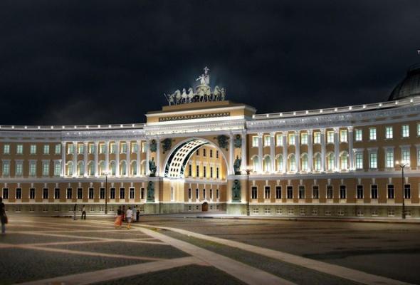 Выбран окончательный вариант освещения арки Генштаба - Фото №1