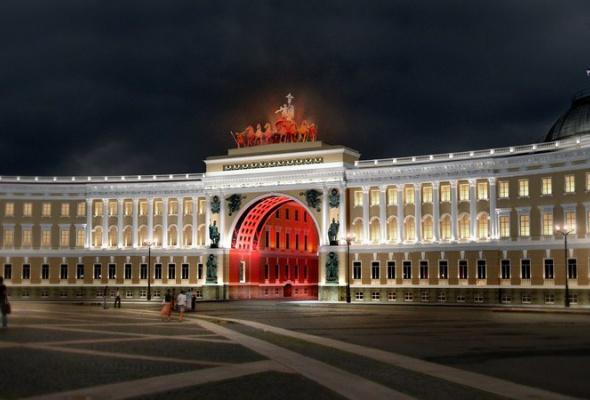 Выбран окончательный вариант освещения арки Генштаба - Фото №2