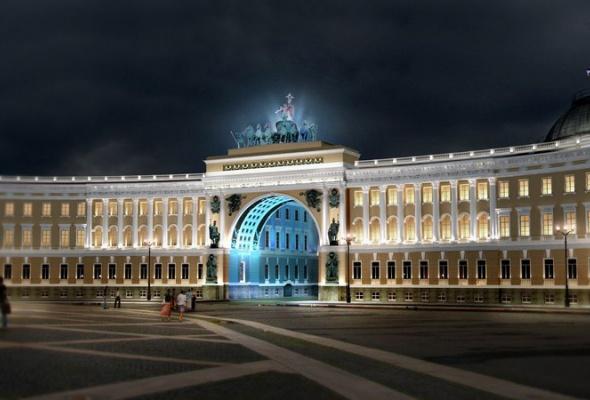 Выбран окончательный вариант освещения арки Генштаба - Фото №3