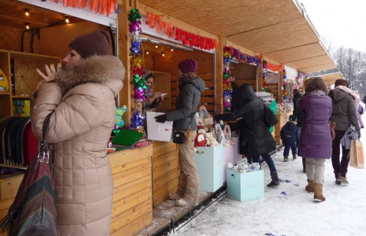 Первая весенняя ярмарка в парке Горького
