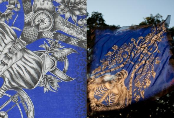 ВЦУМ привезли платки ишали Emma JShipley - Фото №2