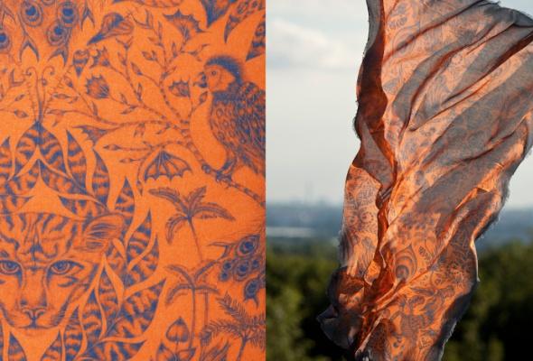 ВЦУМ привезли платки ишали Emma JShipley - Фото №3