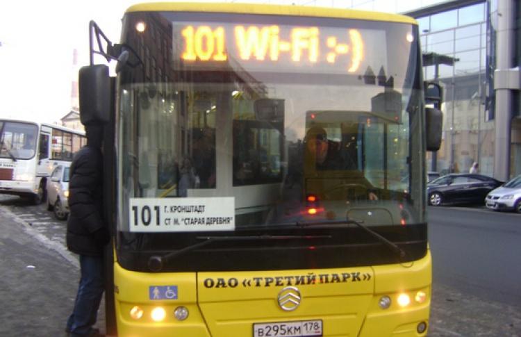 Автобусов сWi-Fiстало втри раза больше
